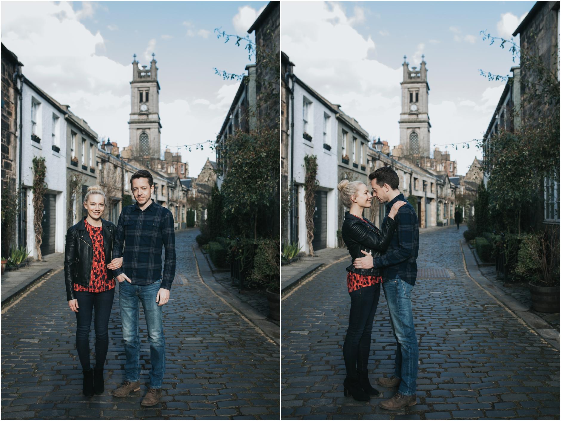 stockbridge engagement photoshoot wedding edinburgh