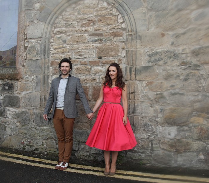 Donna & Dan - South Queensferry vintage themed engagement shoot