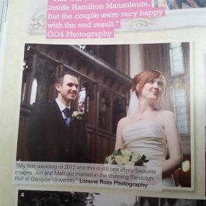 More published work :) (The Best Scottish Weddings Magazine September 2012)