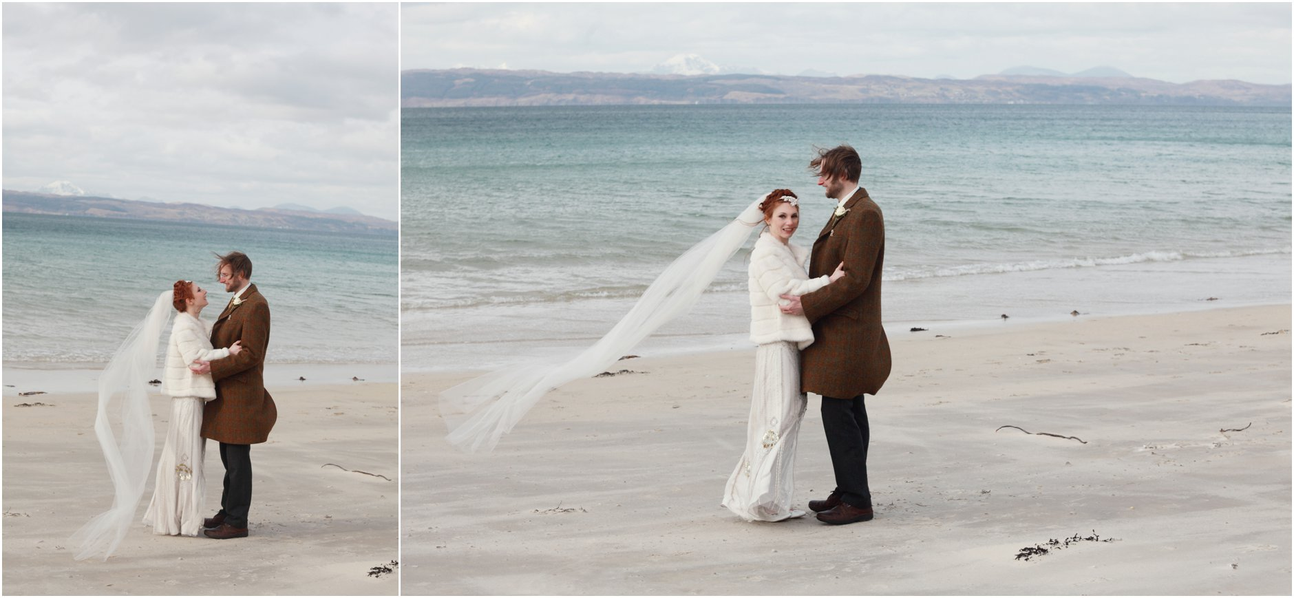 arisaig wedding, camusdrach beach wedding, scottish highlands wedding, scottish beach wedding, jenny packham, jenny packham eden, vintage wedding, 1920s wedding,