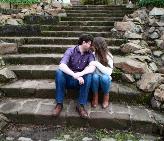 A Glasgow surprise engagement shoot Mary and Patrick