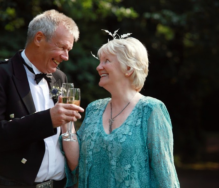 A back dated wedding post - Ronnie and Linda at Dalhousie Castle, 25.08.2013