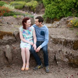 Paula and John - engagement shoot at Royal Botanical Gardens, Edinburgh