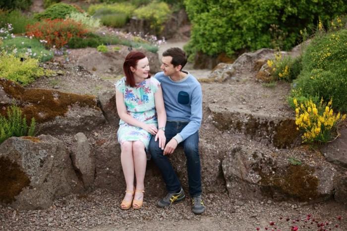 Paula and John - engagement shoot at Royal Botanical Gardens, Edinburgh