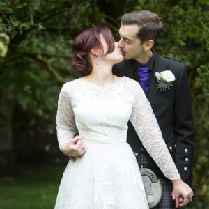 Stunning Scottish borders wedding with a bride straight out of Mad Men - Paula and John