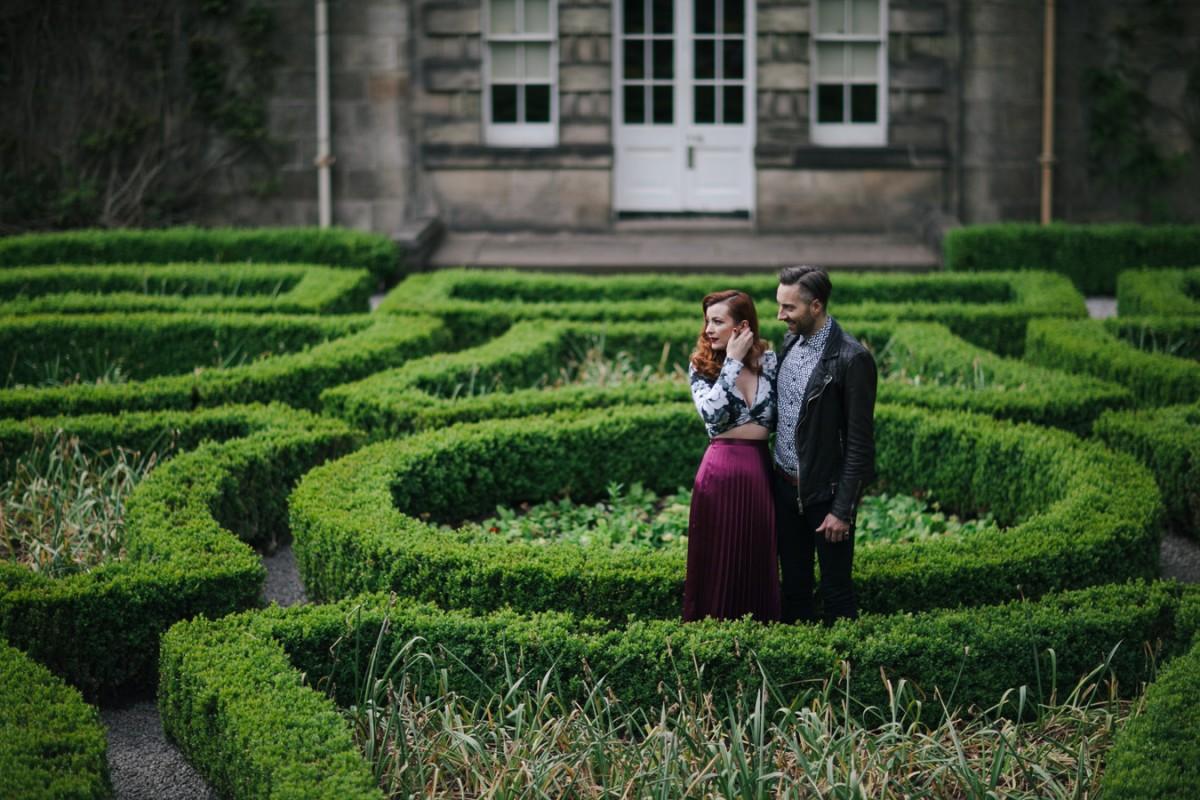 pollock house park engagement photos