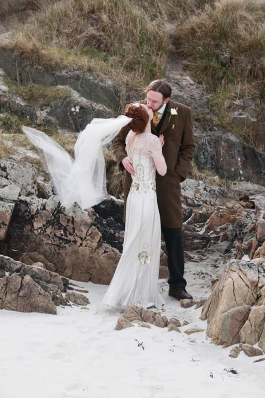 scottish-beach-vintage-wedding-arisaig-jenny-packham-eden