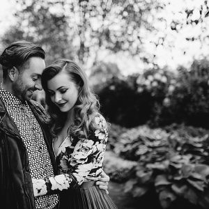 A quirky vintage engagement shoot Pollock Park & House Glasgow