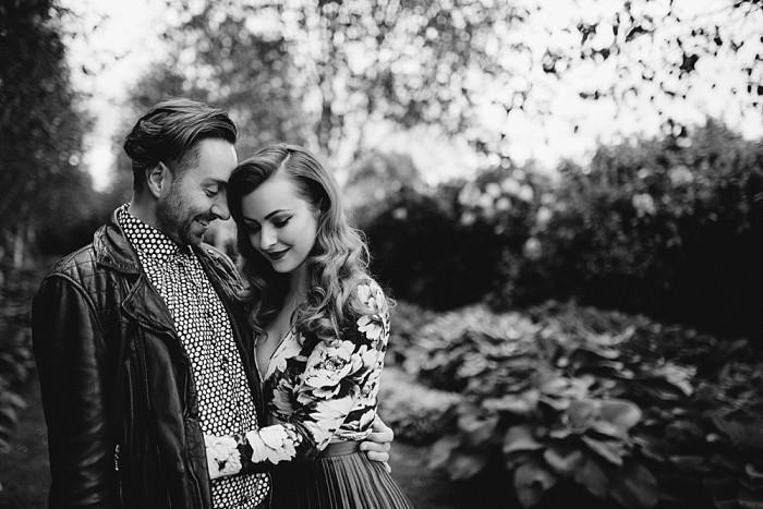 A quirky vintage engagement shoot Pollock Park & House Glasgow