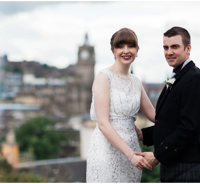Vintage Chic Edinburgh City Wedding - Emma & Jason
