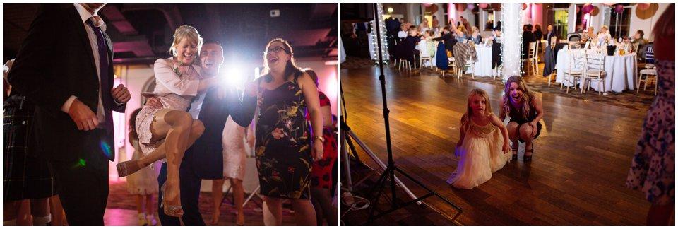 eskmills wedding creative scottish rock n roll alternative wedding photography