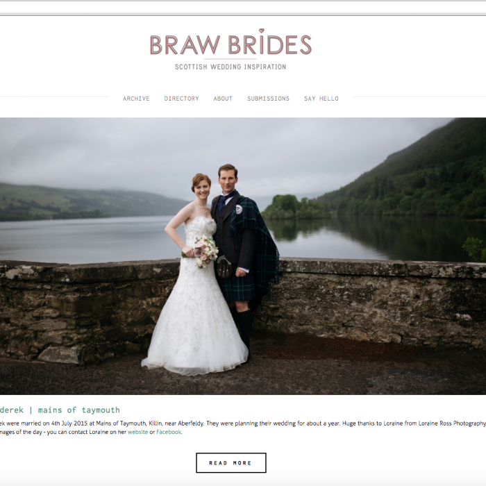 Braw Brides blog feature - Lisa & Derek Mains of Taymouth Wedding