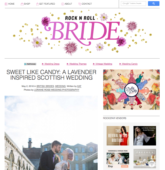 Rock 'n' Roll Bride Blog Feature - Gemma & Chris Eskmills Wedding