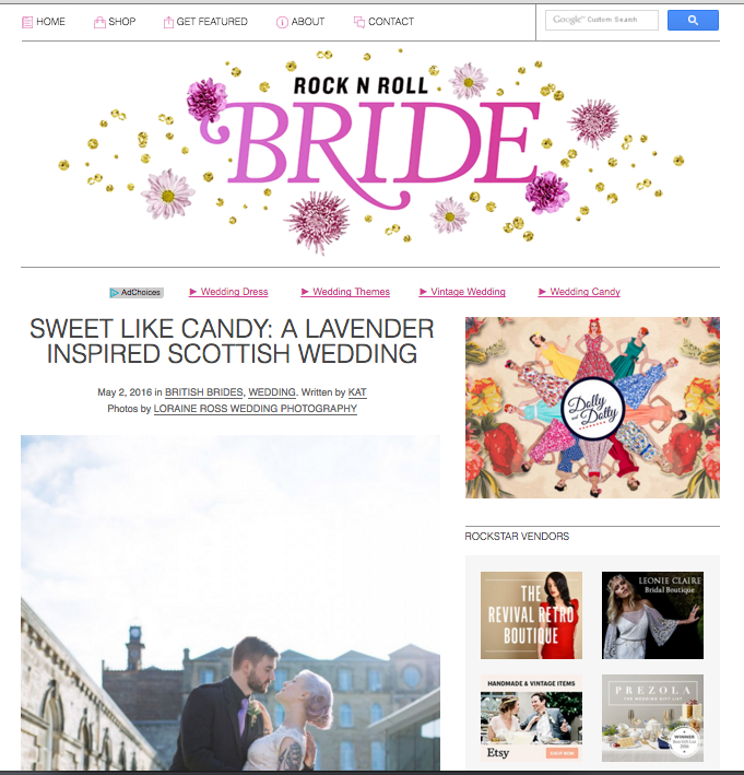 alternative scottish wedding photogrpaher rock n roll bride feature