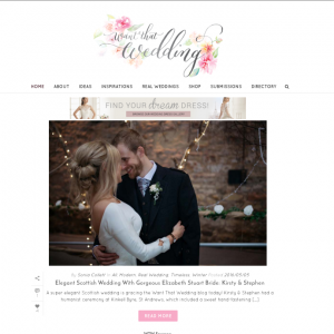 Want That Wedding blog feature - Kirsty & Stephen Winter Kinkell Byre Wedding