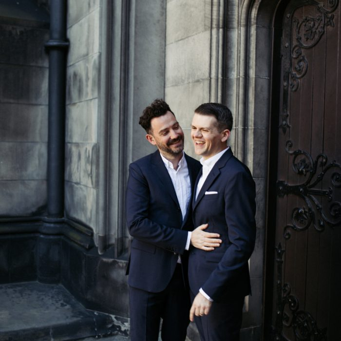 Intimate Edinburgh elopement at Lothian Chambers - Ben & Matthew