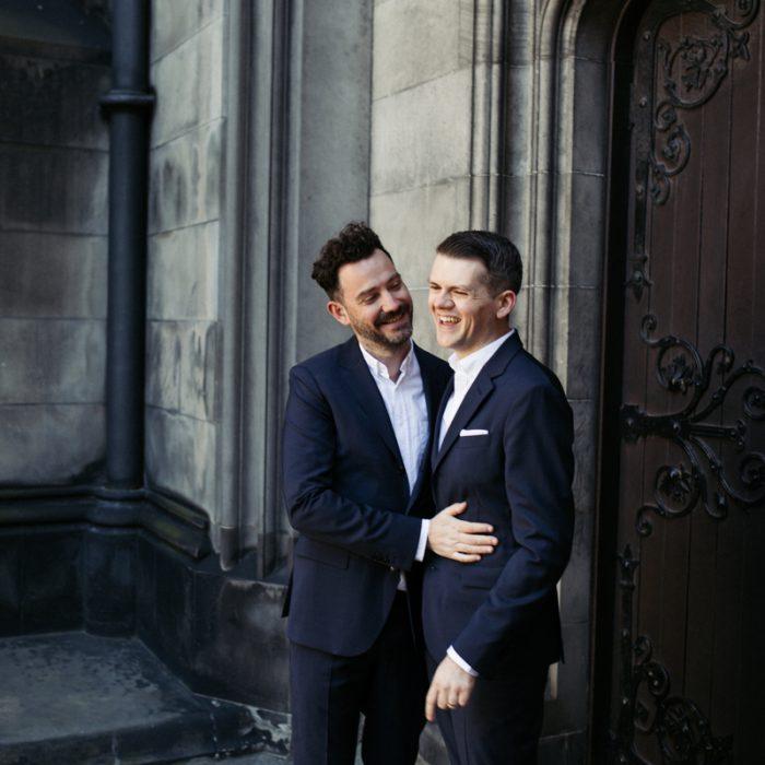 Intimate Edinburgh elopement at Lothian Chambers - Ben & Matthew