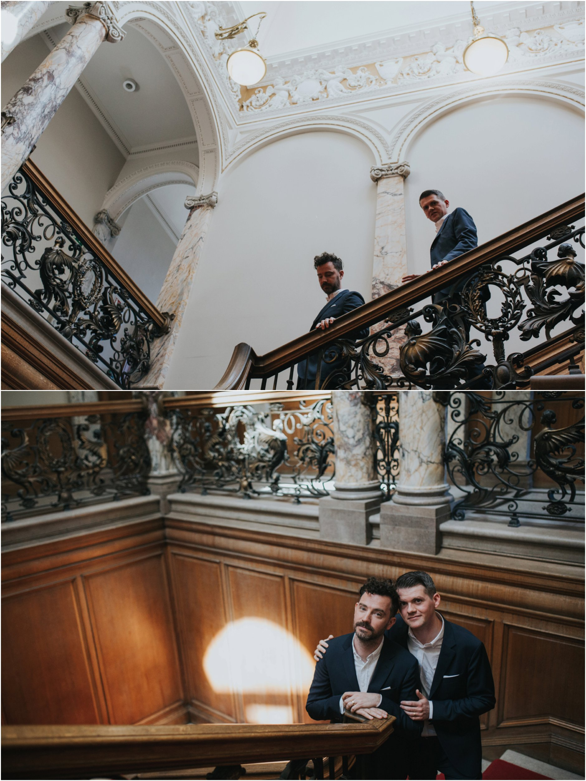 intimate Edinburgh elopement lothiian chambers wedding photography
