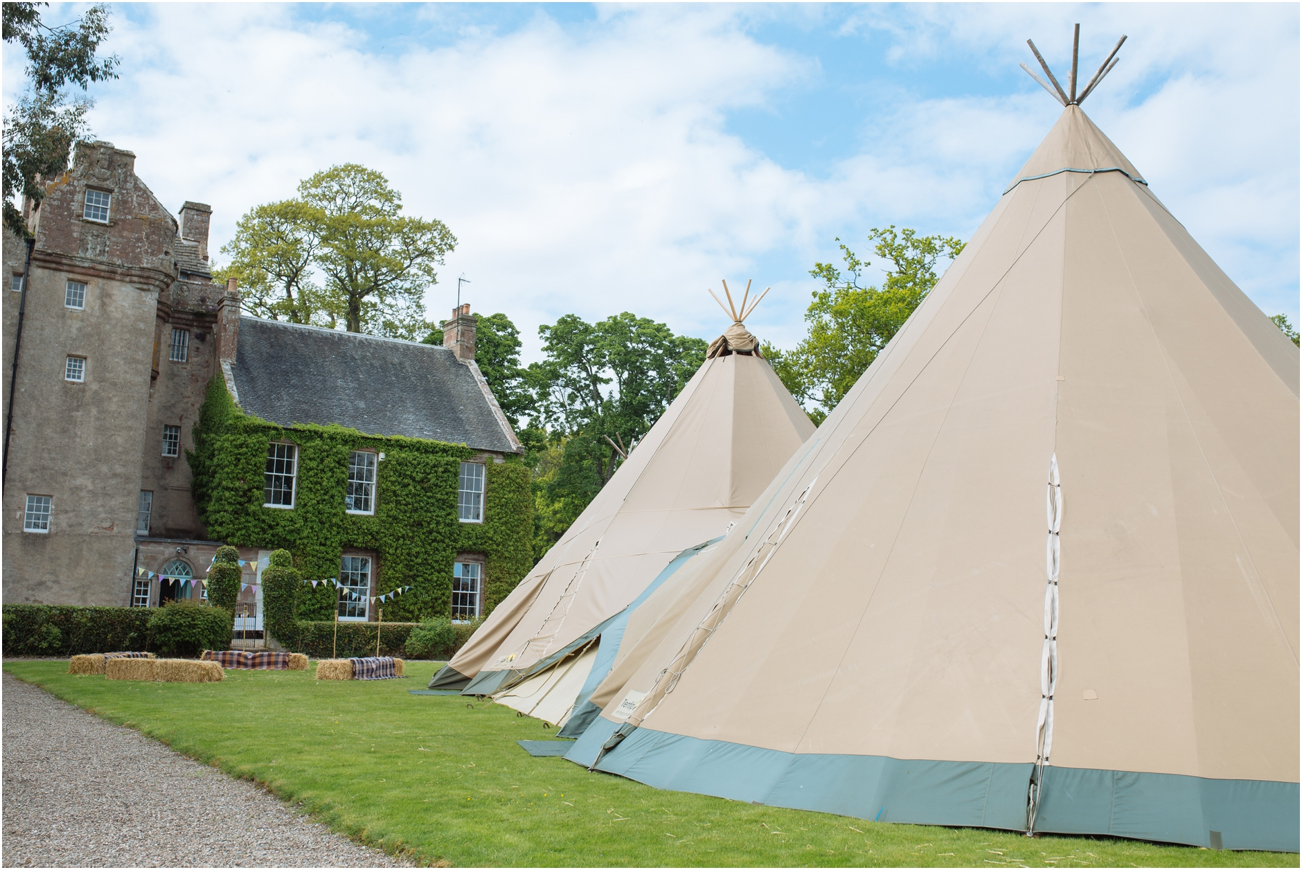 balbegno castle aberdeen aberdeenshire tipi scottish creative wedding photography