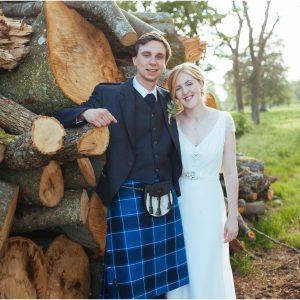 Balbegno Castle Aberdeenshire tipi wedding - Katie & Finlay