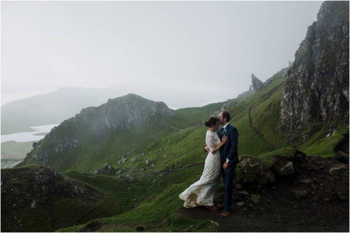 Old Man of Storr, Skye Scottish Highlands Elopement - Elisabeth & Matt
