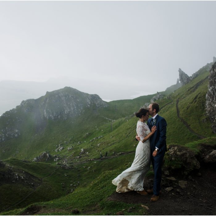 Old Man of Storr, Skye Scottish Highlands Elopement - Elisabeth & Matt