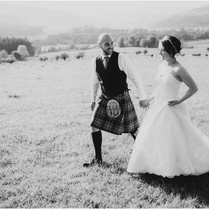 Traquair Village Hall Scottish Borders Wedding - Jenny & Fraser
