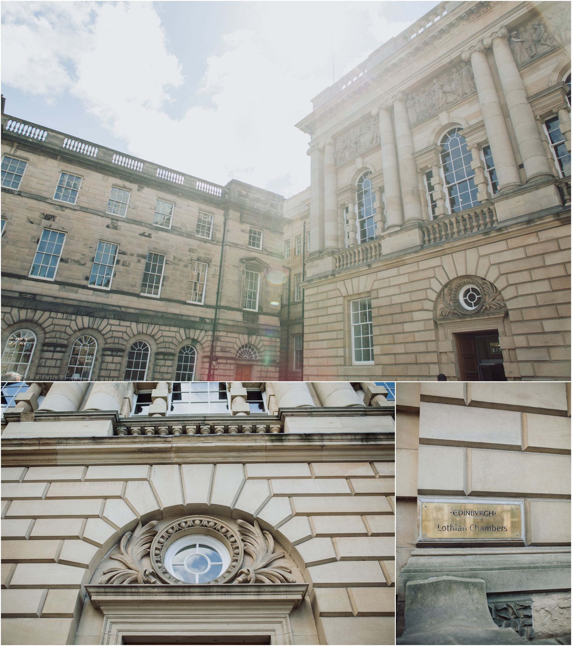 relaxed stylish edinburgh wedding lothian chambers alternative scottish wedding photographer