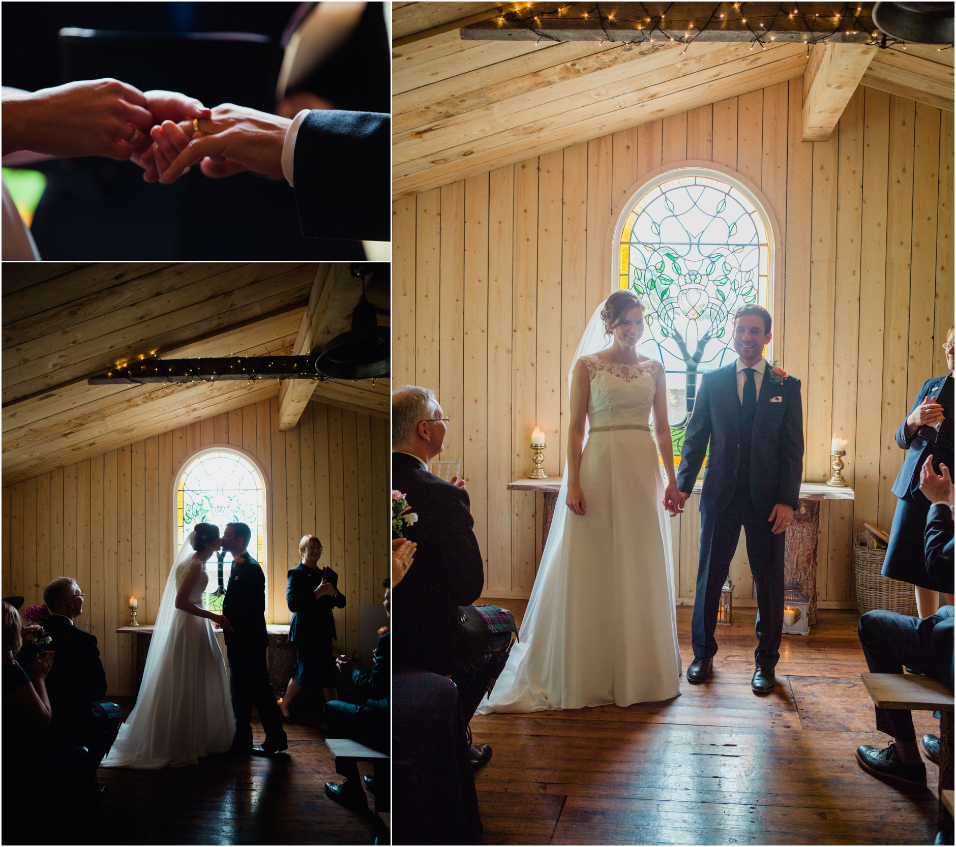 myres castle scottish rustic barn wedding