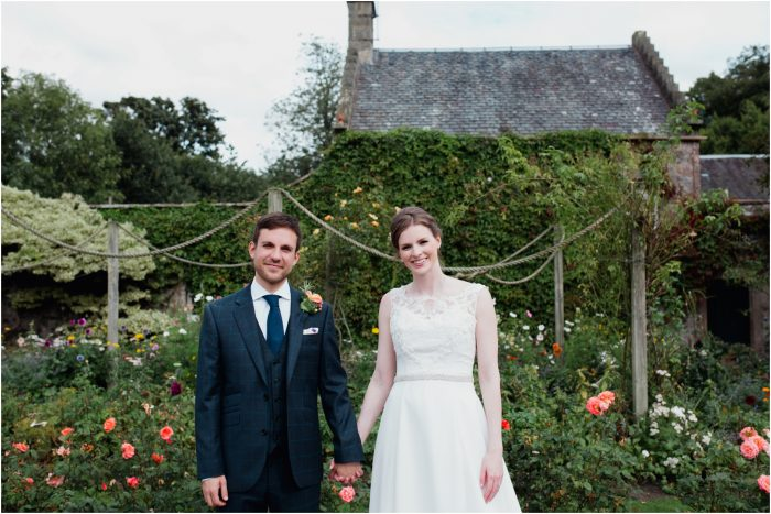 Rustic Scottish barn and Castle wedding at Myres Castle - Steph & Joe