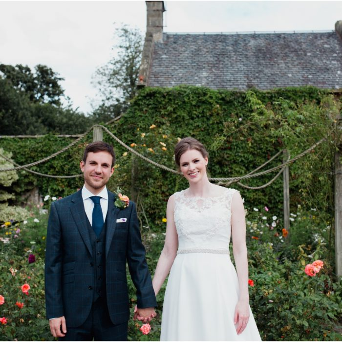 Rustic Scottish barn and Castle wedding at Myres Castle - Steph & Joe