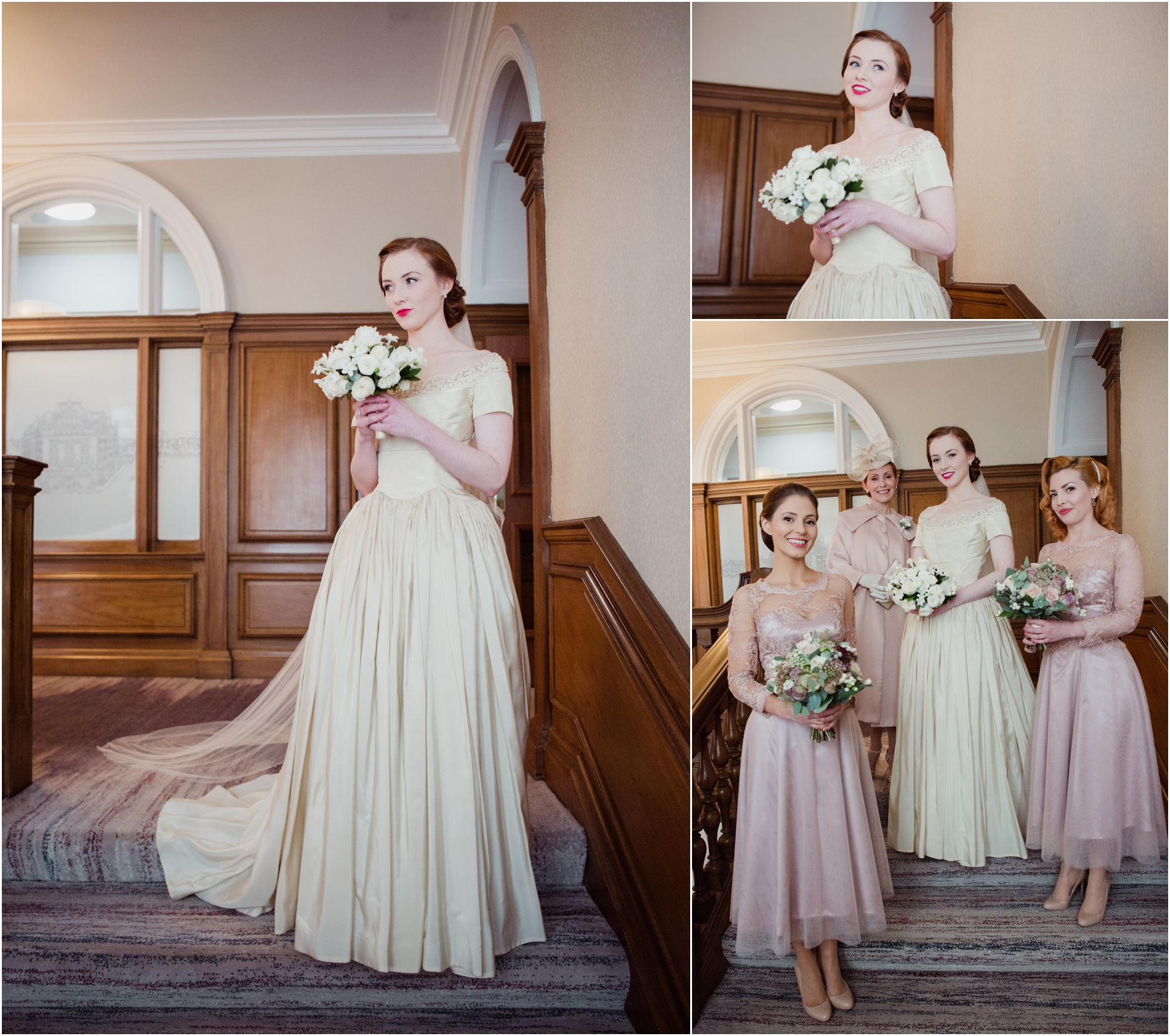 Stunning vintage wedding at Canongate Kirk and Royal College of ...