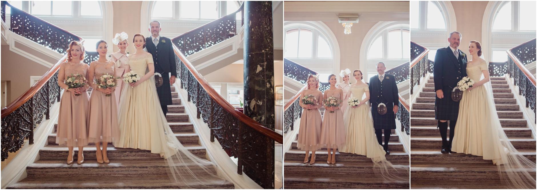 vintage bride wedding edinburgh cannongate kirk royal college of physicians