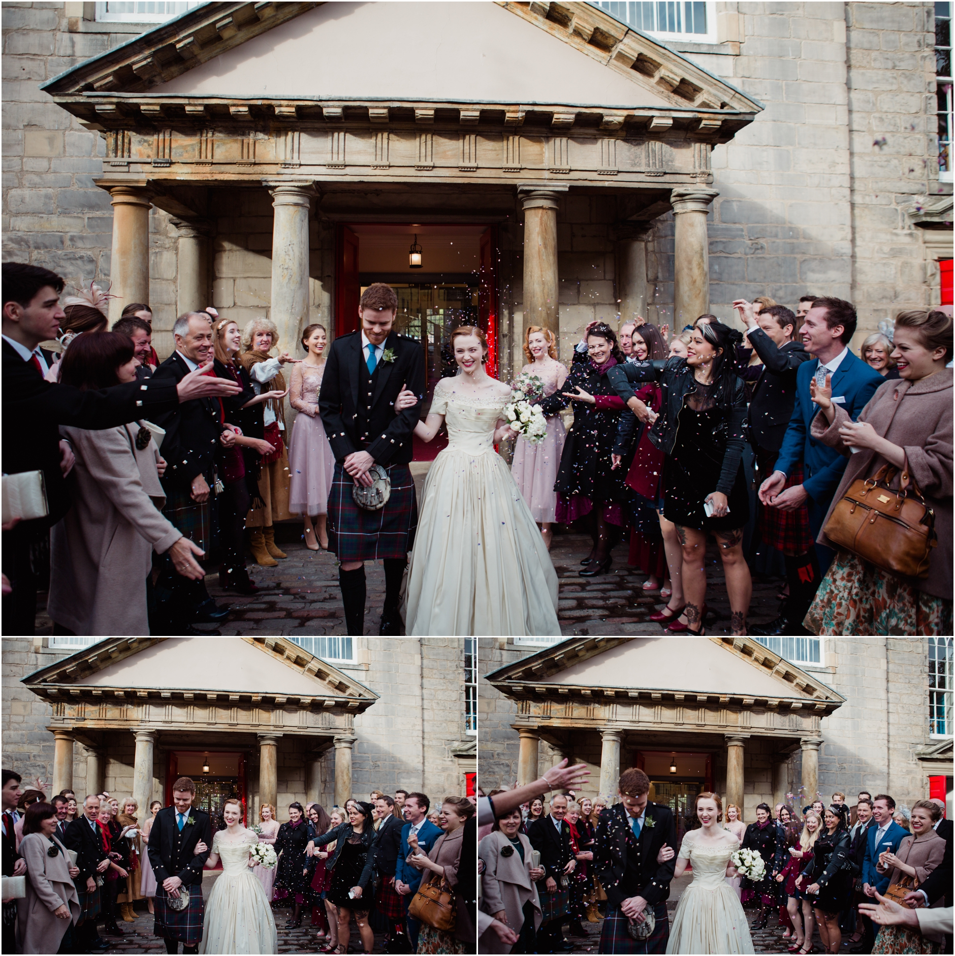 vintage bride wedding edinburgh cannongate kirk royal college of physicians