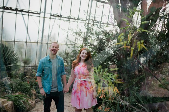 Botanic Gardens Edinburgh Engagement Photoshoot - Amy & Gareth