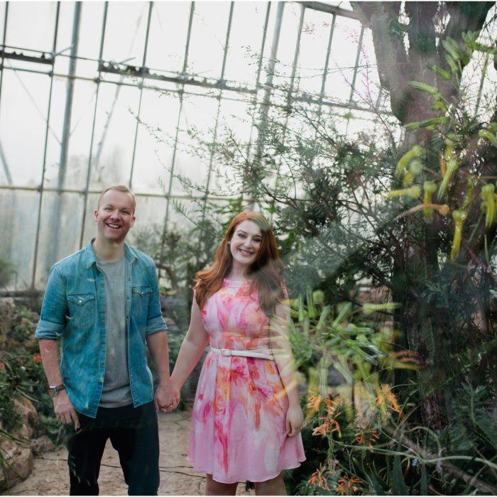 Botanic Gardens Edinburgh Engagement Photoshoot - Amy & Gareth