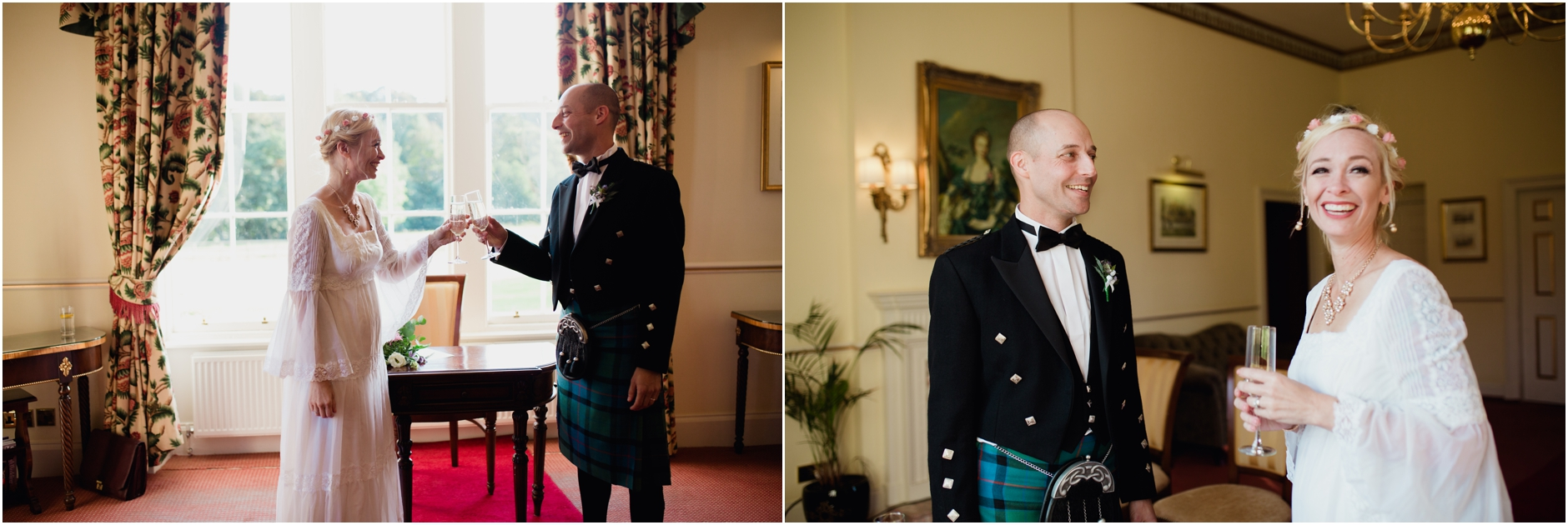 bride and groom on their scottish castle elopement