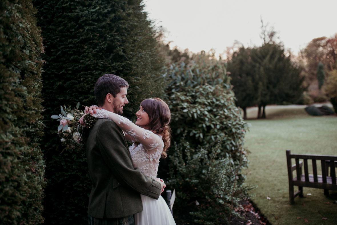 winter wedding at balbirnie house hotel
