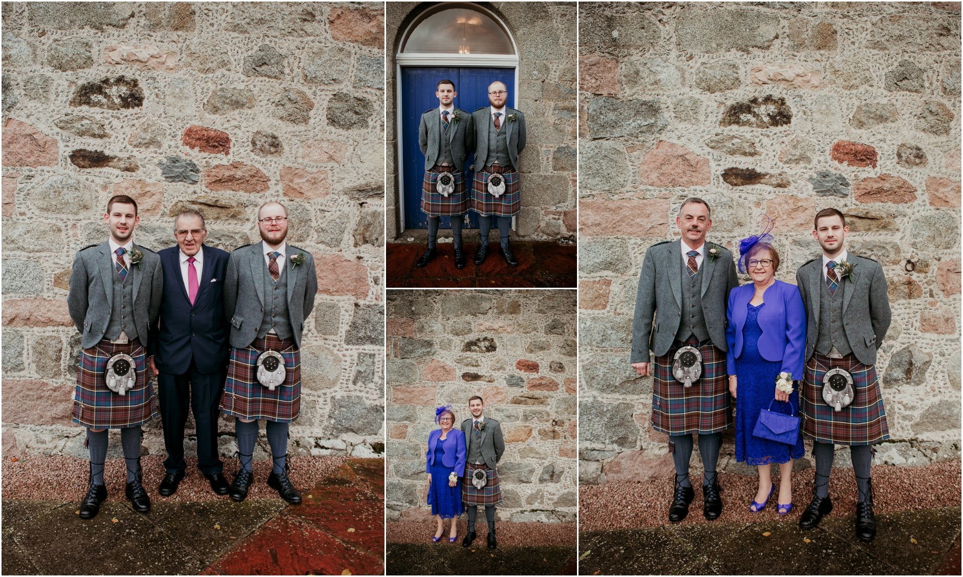 bride and groom on their scottish winter wedding day