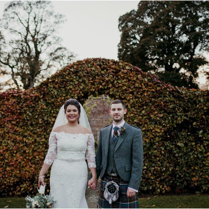 Scottish winter wedding at Castle Fraser, Aberdeenshire - Jules & David