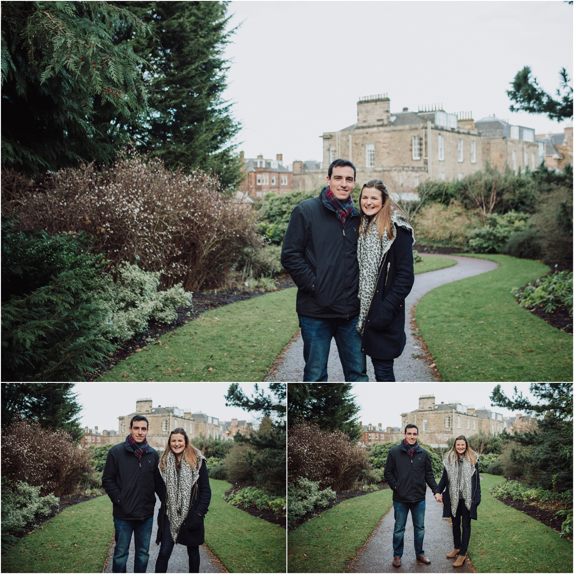 pre wedding engagement shoot botanical gardens edinburgh