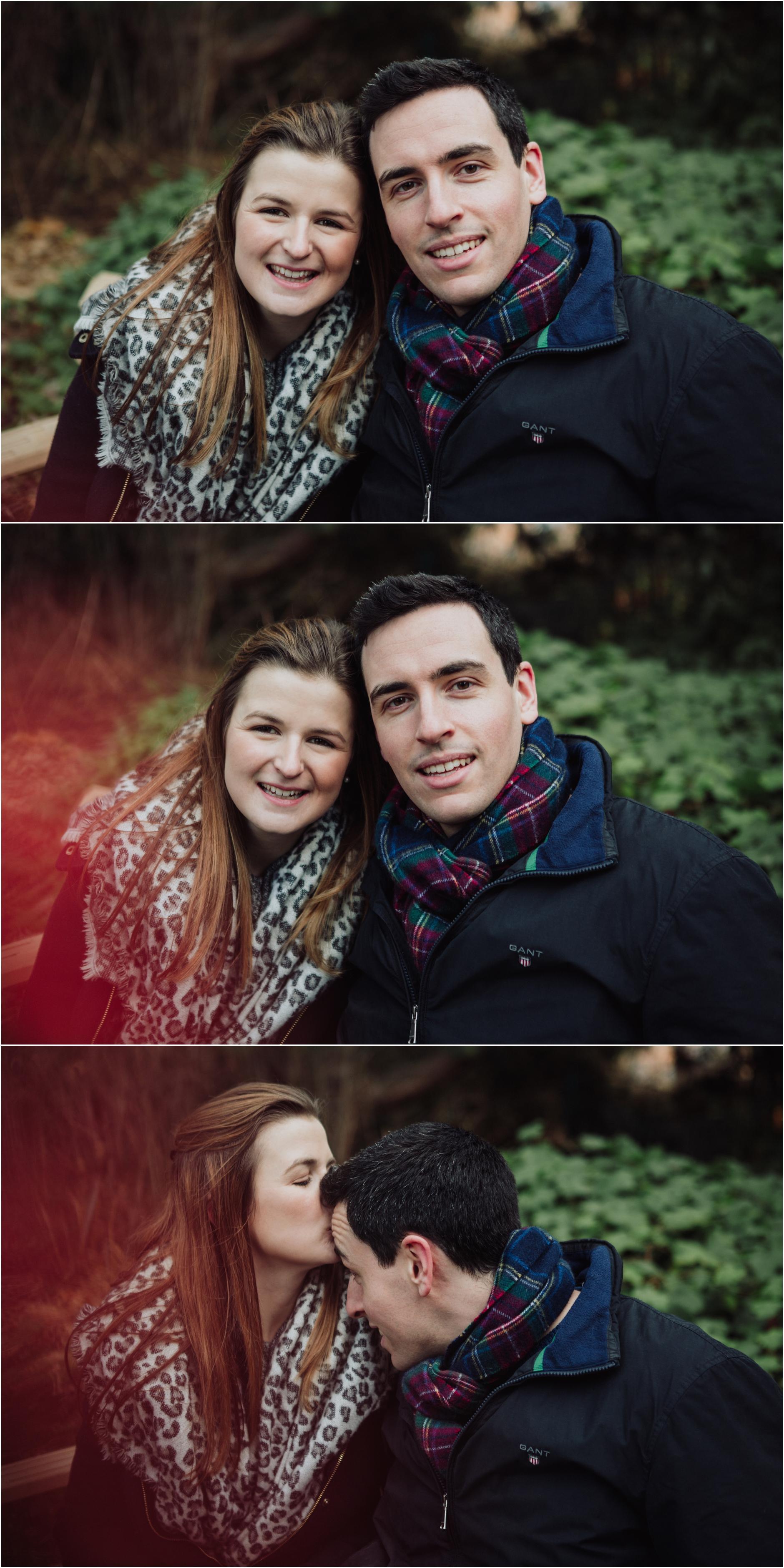 pre wedding engagement shoot botanical gardens edinburgh