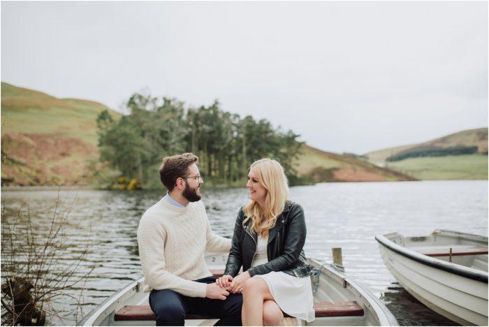 Stylish Kirknewton Stables and Pentlands Pre-Wedding Shoot - Roz & Nick