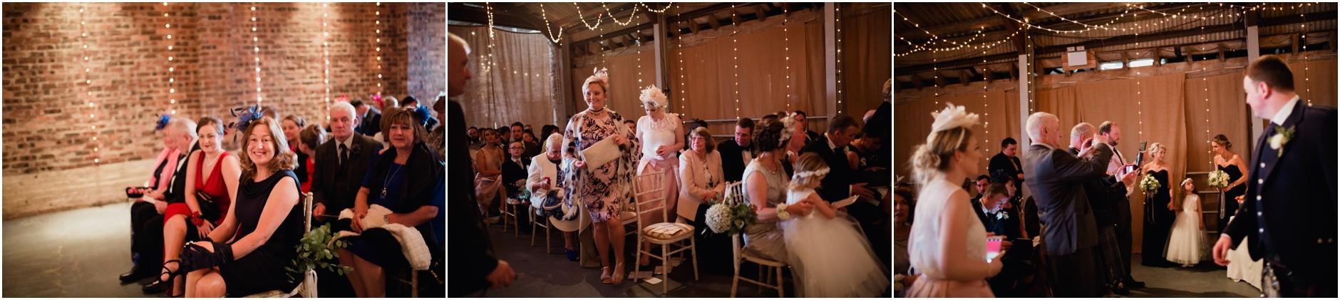 kinkell byre stylish spring barn wedding