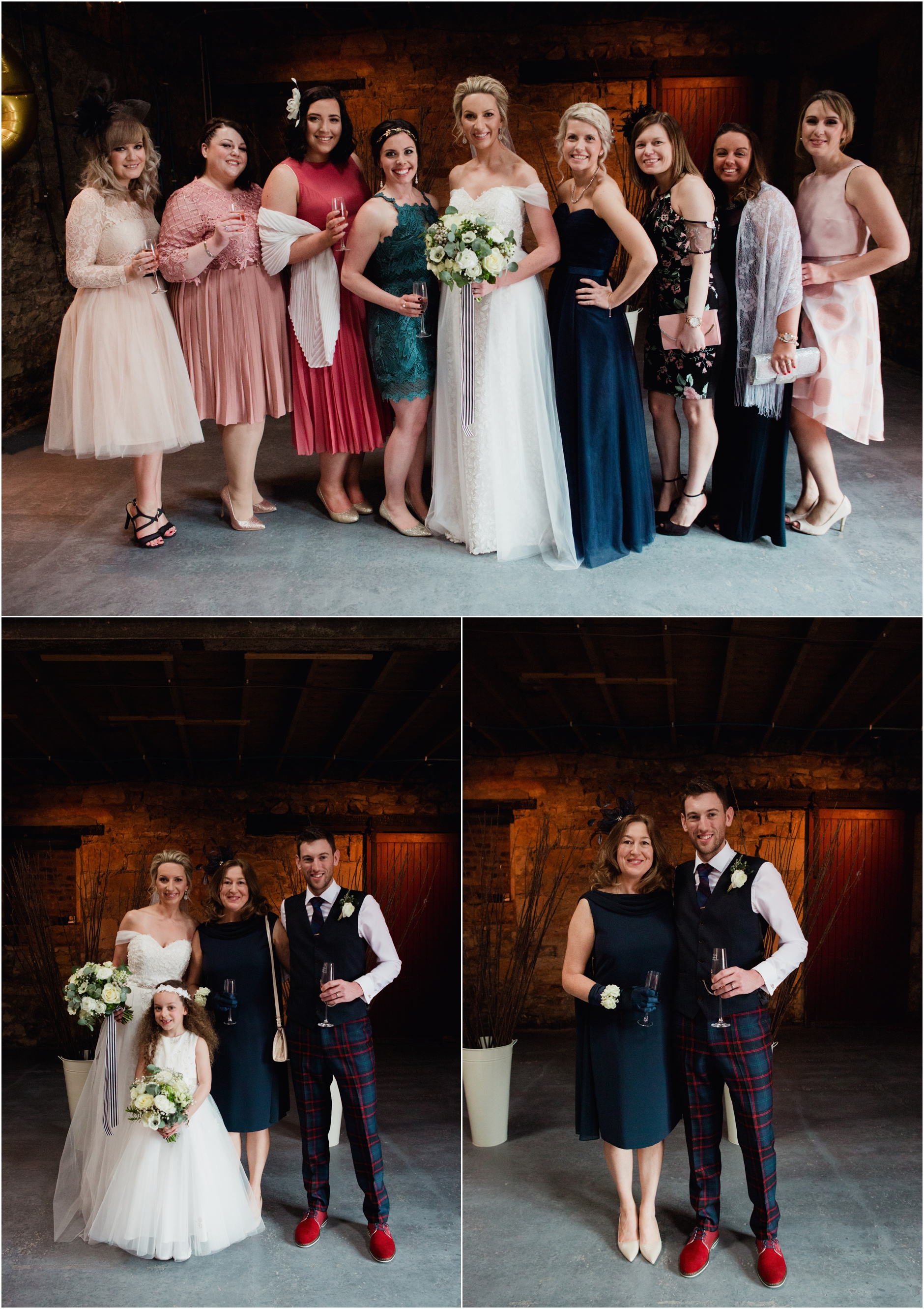 kinkell byre stylish spring barn wedding
