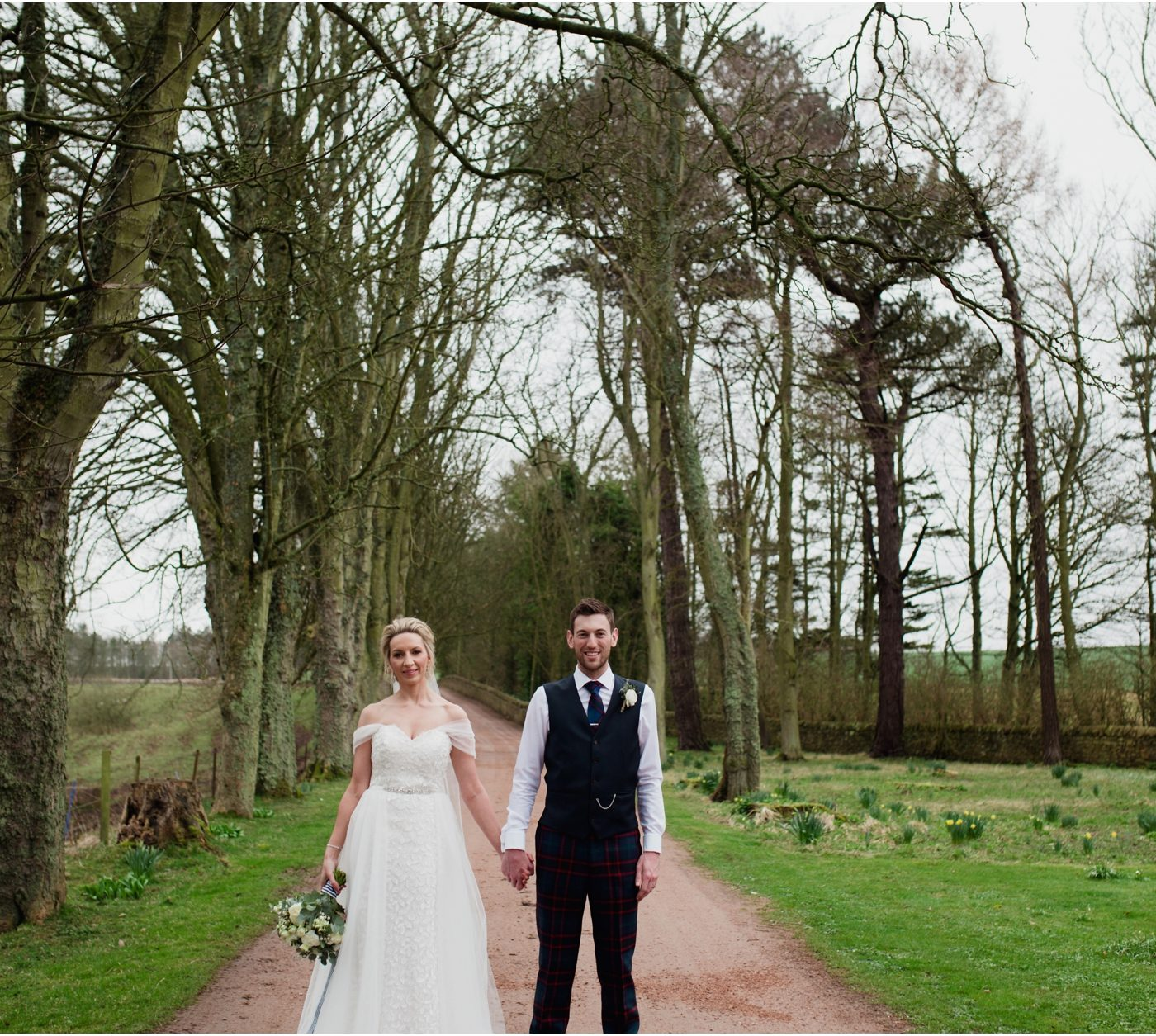 Spring barn wedding at Kinkell Byre - Leigh & Andrew