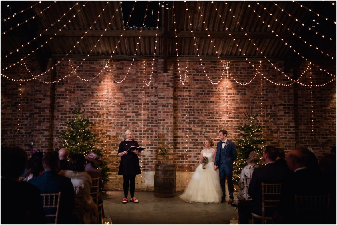 kinkell byre winter barn wedding st andrews scotland