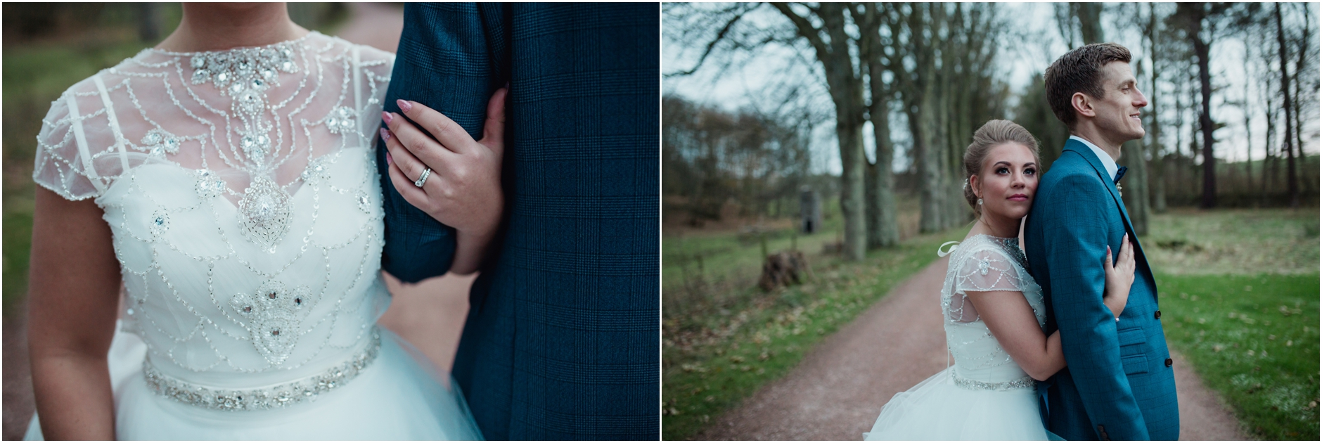 kinkell byre winter barn wedding st andrews scotland