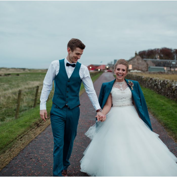 A winter barn wedding at Kinkell Byre - Charlotte & Craig