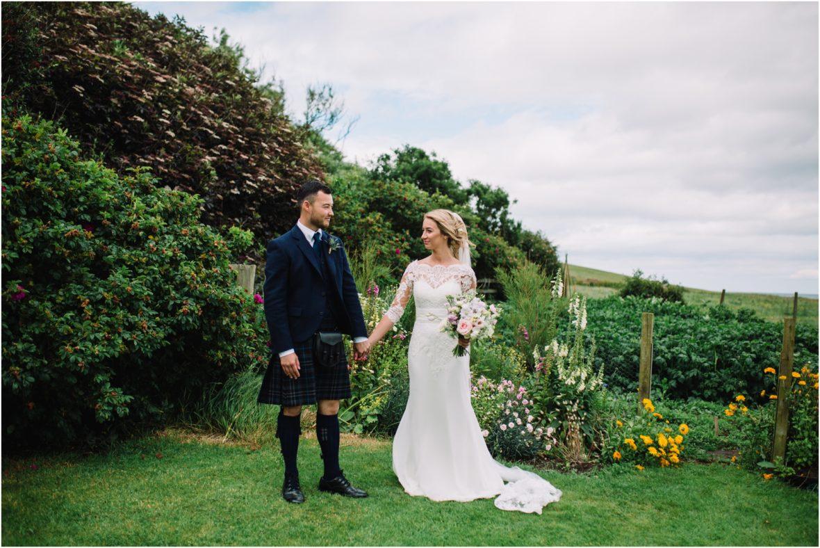 cowshed crail rustic barn wedding scotland